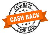 Cash Back Label. Cash Back Orange Band Sign. Cash Back poster
