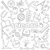 Icons Set Of Contour Icons On The Subject Of Education And Science, Dark Contour Icons On White Back poster