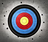 pic of gunshot  - Target with holes all around - JPG