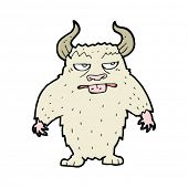 stock photo of minotaur  - cartoon minotaur monster - JPG