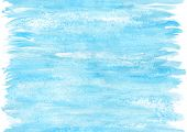 Seamless Blue Watercolor Pattern. Careless Strokes And Stains Of Paint Can Continue Infinitely In He poster
