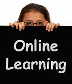 Online Learning Message Showing Web Learning