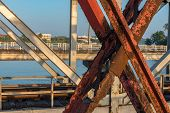 Sunshine Over Bentota River, Olg Bridge, Galle District, Sri Lanka On A Perfectly Still Day Under A  poster