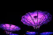 China, Hainan Island, Dadonghai Bay, Night Illumination Of Dadonghai Bay poster