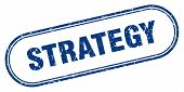 Strategy Stamp. Strategy Square Grunge Sign. Strategy poster