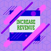 Writing Note Showing Increase Revenue. Business Photo Showcasing Increase In A Company S Is Sales Fr poster