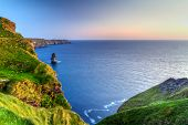 pic of cliffs moher  - Cliffs of Moher at dusk in Co - JPG