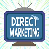 Conceptual Hand Writing Showing Direct Marketing. Business Photo Text Business Of Selling Products D poster