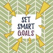 Word Writing Text Set Smart Goals. Business Concept For Establish Achievable Objectives Make Good Bu poster