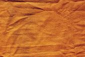 The Texture Of The Fabric. Coarse, Dense Fabric In Orange. The Fabric Is Wrinkled. poster