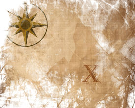 stock photo of treasure map  - Old paper texture with treasure map on it - JPG