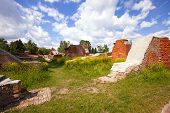 picture of brest  - the preserved ruins of buildings of the Brest fortress - JPG