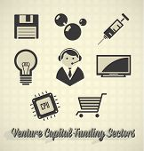 Vector Icon Set: Venture Capital Funding