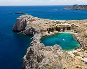 stock photo of greek-island  - Looking down onto St Paul - JPG