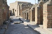 foto of enormous  - Remains enormous destroyed by a volcano Vesuvius city Pompeii - JPG