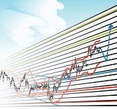 pic of fibonacci  - Forex Trade Chart professional profitable Graph Illustration vector - JPG