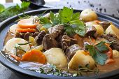 stock photo of stew pot  - Irish stew - JPG