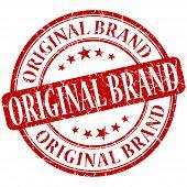 Original Brand Grunge Red Round Stamp poster