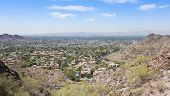 stock photo of ocotillo  - A City of Phoenix Looking Down 7th Street Arizona Shot - JPG