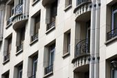 stock photo of passy  - Classic style residences in Paris located in the 16th ward called the  - JPG