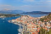 stock photo of greek-island  - Greek island Poros at sunny day - JPG