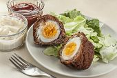 stock photo of scotch  - Scotch eggs - JPG