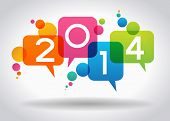 image of year 2014  - Vector 2014 Happy New Year background - JPG