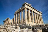 image of parthenon  - Parthenon on the Acropolis in Athens - JPG