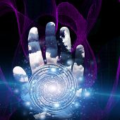 picture of sorcerer  - Hand with swirling form - JPG