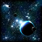 picture of outer  - An outer space background with planets - JPG