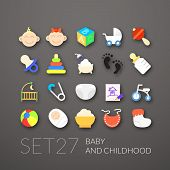 picture of boy girl shadow  - Flat icons set 27  - JPG