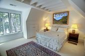 pic of upstairs  - simple upstairs bedroom with double windows - JPG