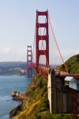 stock photo of golden gate bridge  - Golden Gate Bridge in San Francisco California - JPG