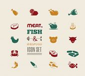 picture of meat icon  - Meat Icon Set - JPG