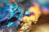 image of pyrite  - Abstract background from a Crystal mineral - JPG