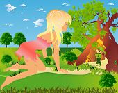foto of encounter  - fairy composite showing a mysterious encounter in the woods - JPG