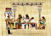 pic of pharaohs  - Illustration of the imaginary  Passover Seder - JPG