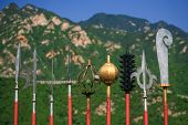 picture of qin dynasty  - Entomb warrior weapon at Great Wall Beijing China - JPG