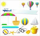 Summer Design Elements poster