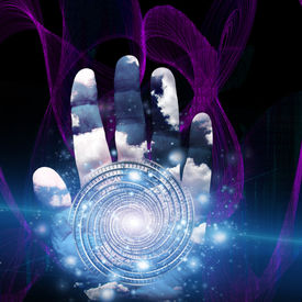 image of sorcerer  - Hand with swirling form - JPG