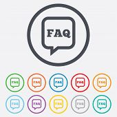 foto of faq  - FAQ information sign icon - JPG