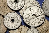 picture of fowl  - Coins of Norway - JPG
