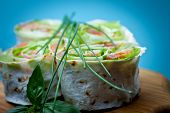 pic of pita  - Roll pita with salad and salted salmon - JPG