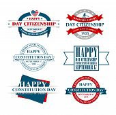 stock photo of citizenship  - vector illustration citizenship Day a national holiday of the United States love of the homeland and traditions of its people - JPG