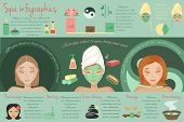 image of stone-therapy  - Spa salon thai massage bathing stone therapy isolated vector illustration - JPG