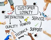 image of loyalty  - Group of People and Customer Loyalty Concepts - JPG