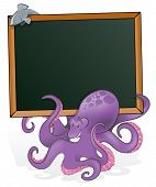 pic of octopus  - Cute Octopus with Blank Sign - JPG