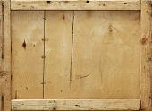 stock photo of crate  - Detail of an old wooden crate suitable for background - JPG