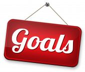 image of goal setting  - goals and ambition way to success guarantee to reach your goal and go to the top   - JPG