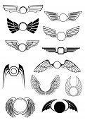 Постер, плакат: Heraldic wings set